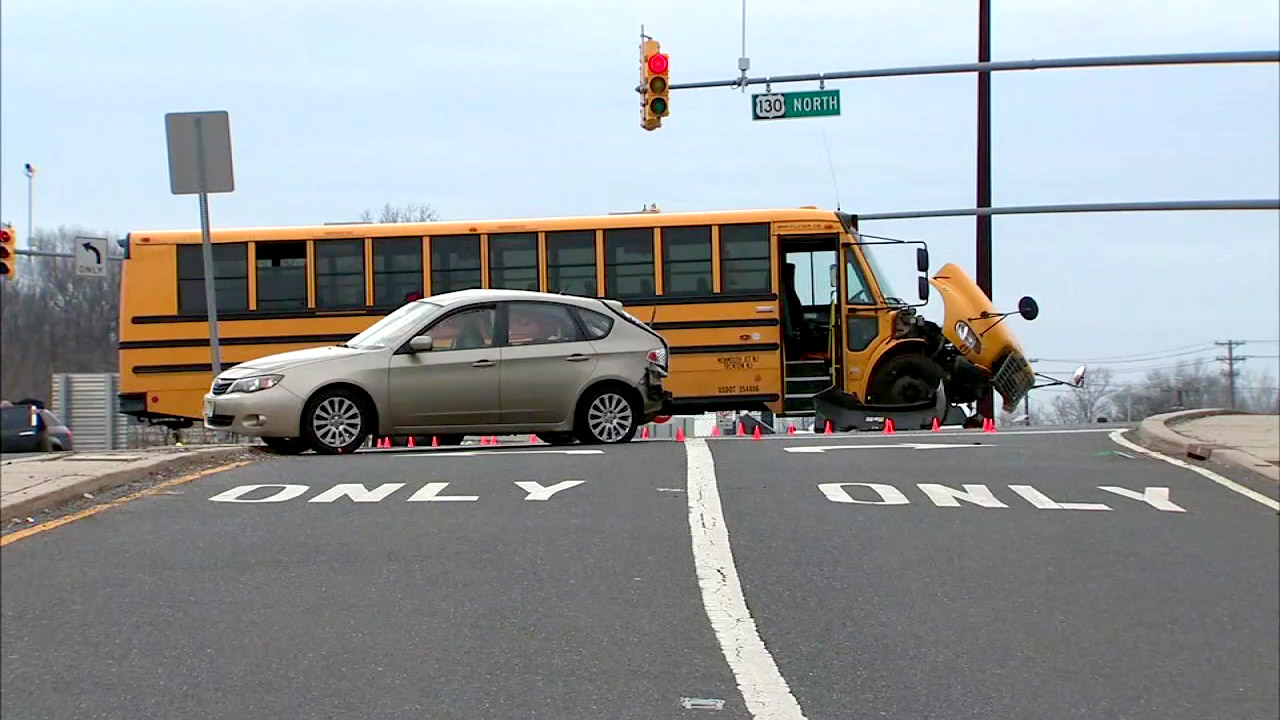 Baby critically hurt when school bus hits car in New Jersey | abc7ny.com