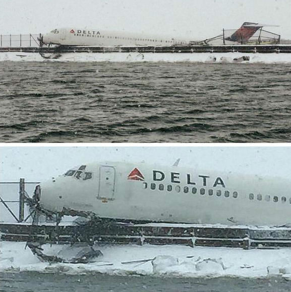 <div class='meta'><div class='origin-logo' data-origin='none'></div><span class='caption-text' data-credit=''>Photos of a plane that skidded off the runway at LaGuardia Airport on March 5, 2015.  (NYPD)</span></div>