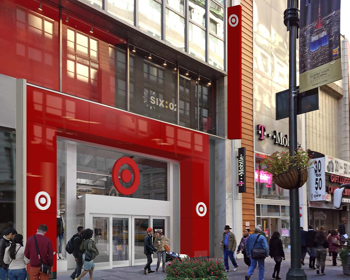 "<div class=""meta image-caption""><div class=""origin-logo origin-image none""><span>none</span></div><span class=""caption-text"">This rendering shows the outside of the main entrance to the 34th Street Target store. (Photo/Target)</span></div>"