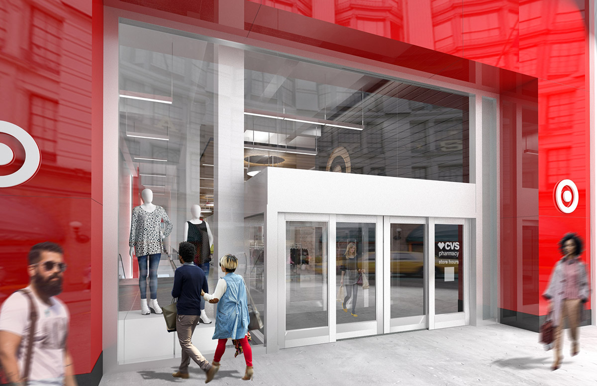 "<div class=""meta image-caption""><div class=""origin-logo origin-image none""><span>none</span></div><span class=""caption-text"">This is a rendering showing a closer view of the main entrance to the Midtown Manhattan Target store on 34th Street. (Photo/Target)</span></div>"