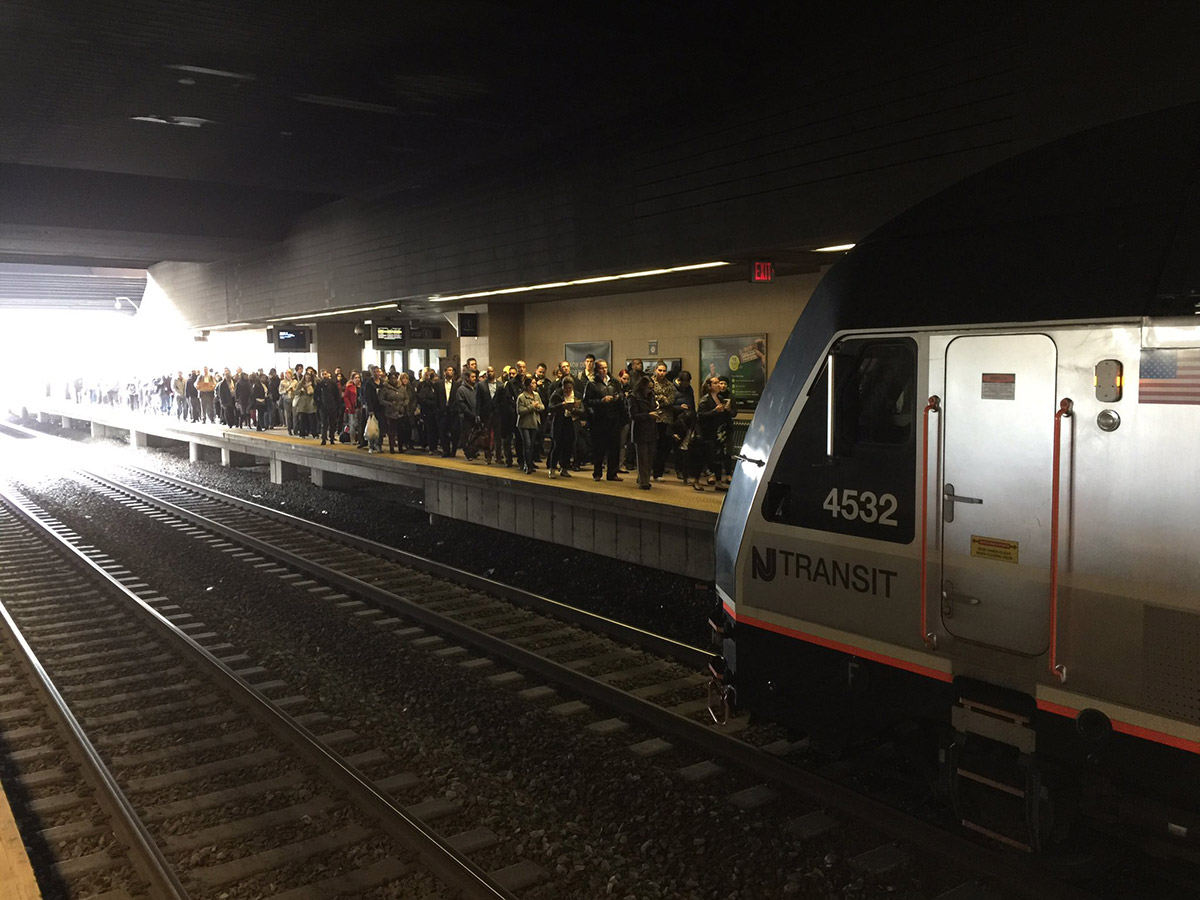 <div class='meta'><div class='origin-logo' data-origin='none'></div><span class='caption-text' data-credit='Photo/@robertjohndavis via Twitter'>This photo shows crowds at the NJ Transit Secaucus transfer station after a train derailed at New York Penn Station on Monday, April 3, 2017.</span></div>