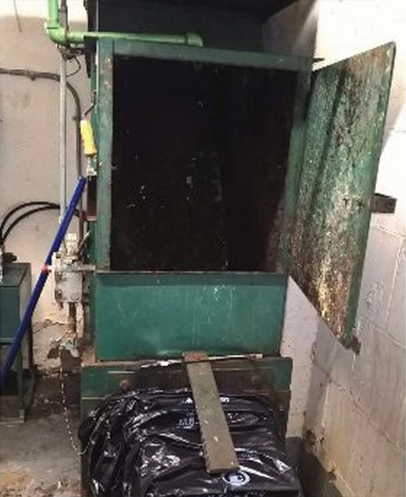 Police Looking For Person Who Left Dog In Trash Compactor