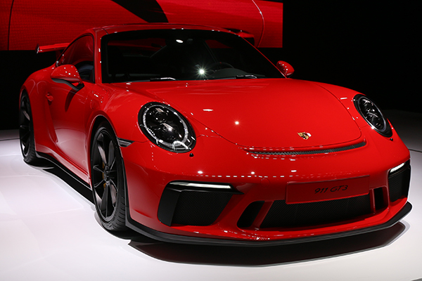 <div class='meta'><div class='origin-logo' data-origin='WABC'></div><span class='caption-text' data-credit=''>Porsche debuted its new 911 GT3 at the auto show.</span></div>