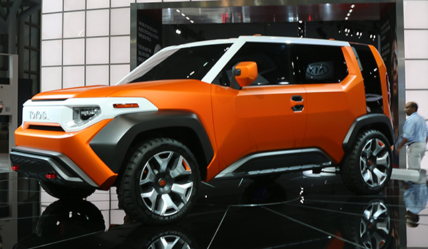 <div class='meta'><div class='origin-logo' data-origin='WABC'></div><span class='caption-text' data-credit=''>Toyota is aiming at the off-road, camp-in-the-woods crowd with its FT4X concept that likely will take on Jeep and Subaru and target Generation Y city dwellers.</span></div>