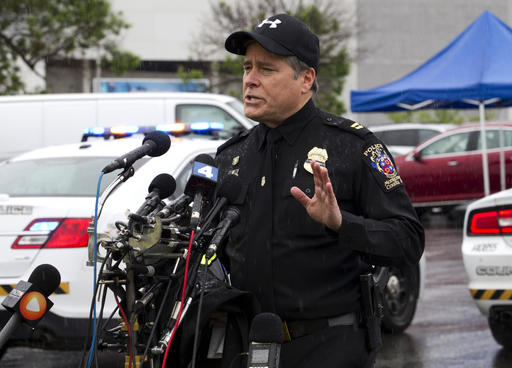 <div class='meta'><div class='origin-logo' data-origin='AP'></div><span class='caption-text' data-credit='AP Photo/Jose Luis Magana'>Montgomery County, Md. Police Capt. Paul Starks speaks to the media in the parking lot outside the Westfield Montgomery Mall in Bethesda, Md., Friday, May 6, 2016.</span></div>