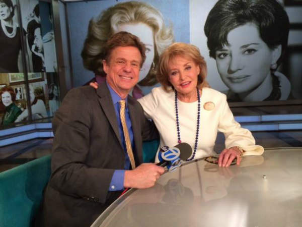 Eyewitness News entertainment reporter Sandy Kenyon with Barbara Walters on her last day on The View. <span class=meta>(WABC Photo&#47; Sandy Kenyon)</span>