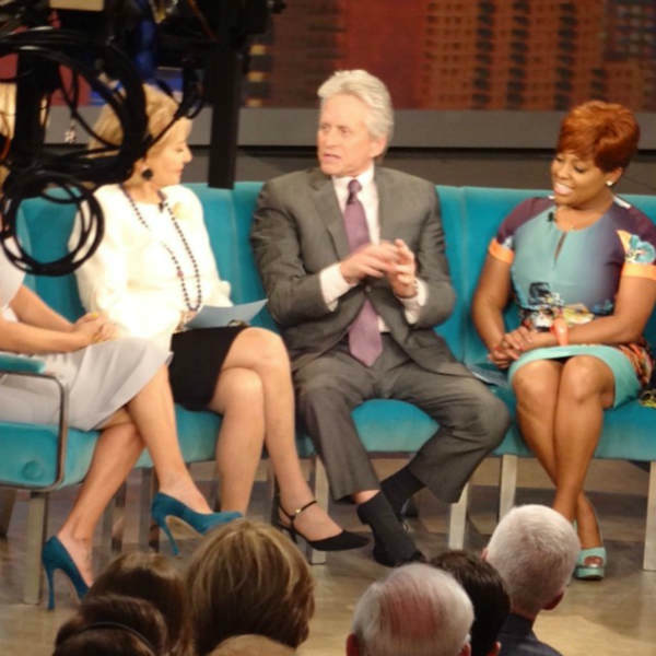 Michael Douglas appears during Barbara Walters&#39; last day on The View. <span class=meta>(WABC Photo&#47; Sandy Kenyon)</span>