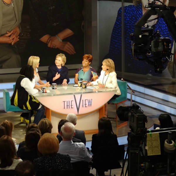 "<div class=""meta ""><span class=""caption-text "">Hillary Clinton appears during Barbara Walters' last day on The View. (WABC Photo/ Sandy Kenyon)</span></div>"