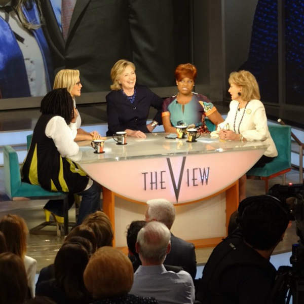 "<div class=""meta image-caption""><div class=""origin-logo origin-image ""><span></span></div><span class=""caption-text"">Hillary Clinton appears during Barbara Walters' last day on The View. (WABC Photo/ Sandy Kenyon)</span></div>"