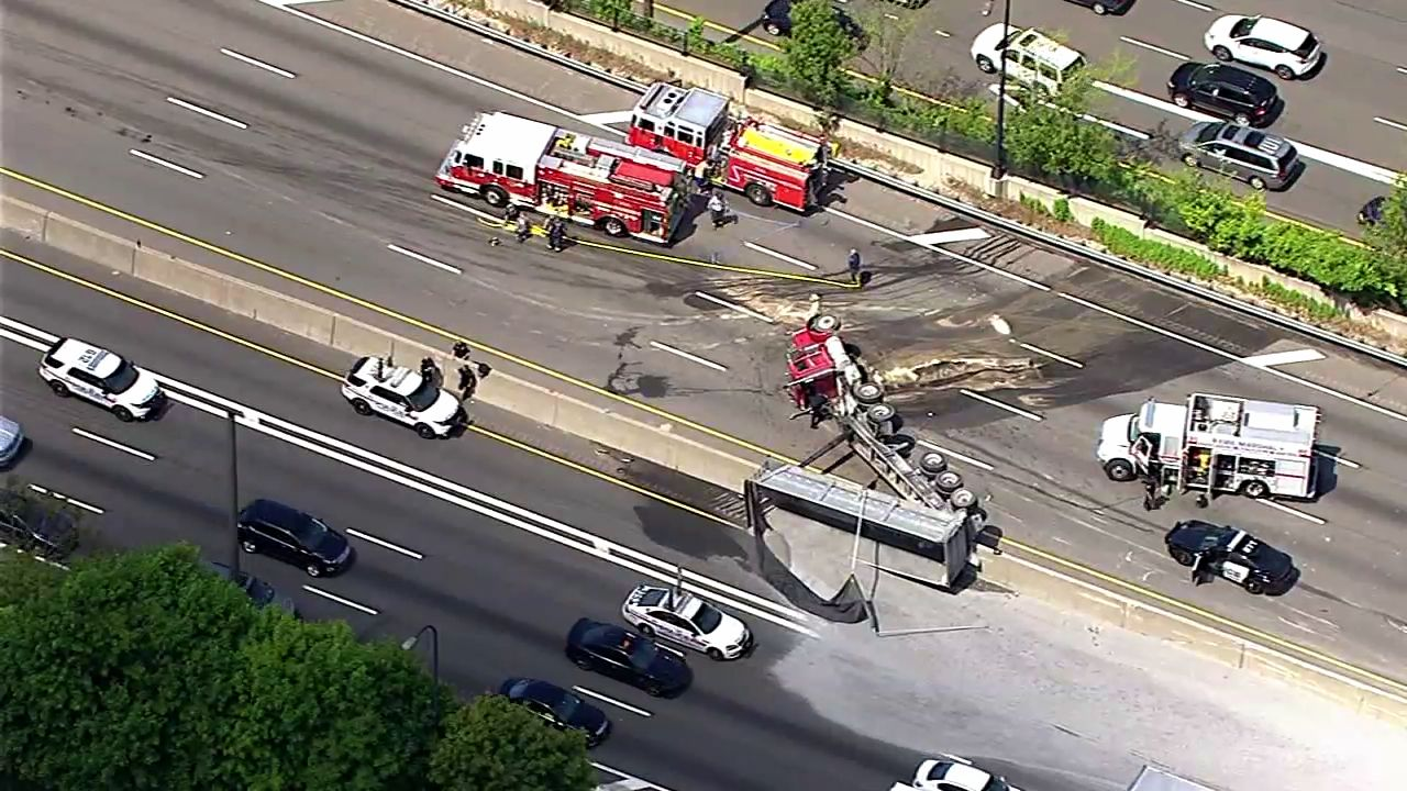 All Lanes Reopened On Lie After Tractor Trailer Overturns