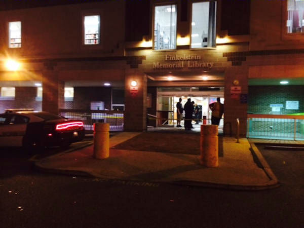 "<div class=""meta image-caption""><div class=""origin-logo origin-image ""><span></span></div><span class=""caption-text"">Several people were injured when a car drove into a library in Spring Valley, New York Tuesday evening.  </span></div>"