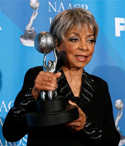 <div class='meta'><div class='origin-logo' data-origin='none'></div><span class='caption-text' data-credit='AP Photo/Kevork Djansezian'>Ruby Dee is seen backstage with the Chairman's award at the 39th NAACP Image Awards on Thursday, Feb. 14, 2008, in Los Angeles.</span></div>