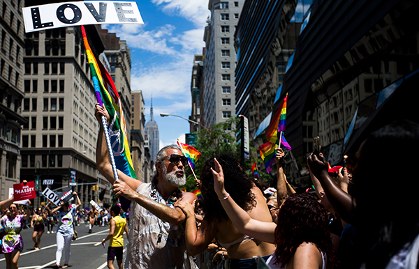 "<div class=""meta image-caption""><div class=""origin-logo origin-image ap""><span>AP</span></div><span class=""caption-text"">Steven Menendez blows a kiss while participating in the New York City Pride Parade on Sunday, June 25, 2017 in New York. (AP Photo/Michael Noble Jr.)</span></div>"