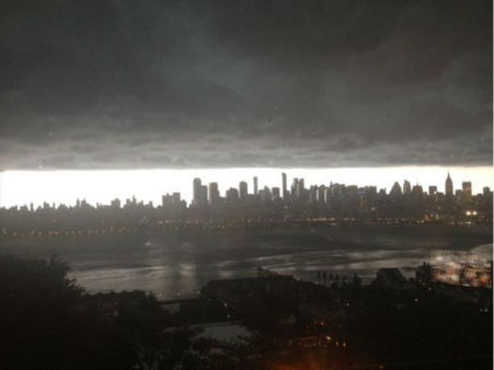 Severe thunderstorm photo taken of the Hudson River in West New York, NJ. <span class=meta>(Sherri Balassone)</span>