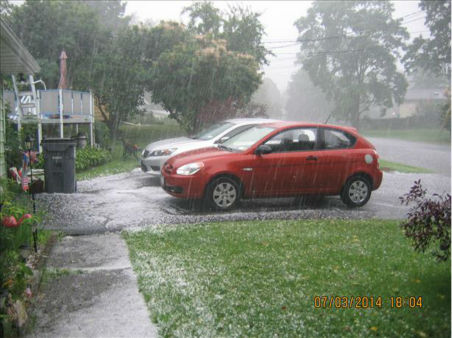 Torrential downpour with hail in Port Ewen, NY. <span class=meta>(WABC Photo&#47; WABC)</span>