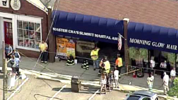 "<div class=""meta image-caption""><div class=""origin-logo origin-image ""><span></span></div><span class=""caption-text"">A car drove into a martial arts dojo in Waldwick, New Jersey.  It happened at 4:30 p.m. on Thursday.  It was closed at the time and no one was injured. (WABC Photo/ WABC)</span></div>"