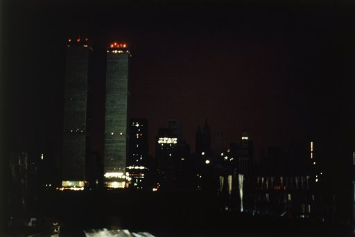 <div class='meta'><div class='origin-logo' data-origin='AP'></div><span class='caption-text' data-credit='AP Photo/Dave Pickoff'>The twin towers of the World Trade Center and the southern tip of Manhattan are plunged into near darkness as a massive power failure hits New York City July 13, 1977.</span></div>