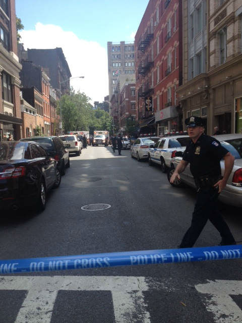<div class='meta'><div class='origin-logo' data-origin='none'></div><span class='caption-text' data-credit='WABC Photo'>Police sources tell Eyewitness News they responded to reports of two law enforcement agents who were shot in the West Village.</span></div>