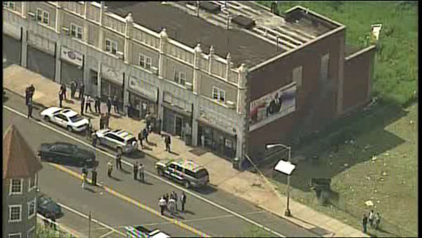 <div class='meta'><div class='origin-logo' data-origin='~ORIGIN~'></div><span class='caption-text' data-credit='WABC Photo/ WABC'>The officer was shot in the leg on Clinton Avenue in Newark Wednesday afternoon.</span></div>