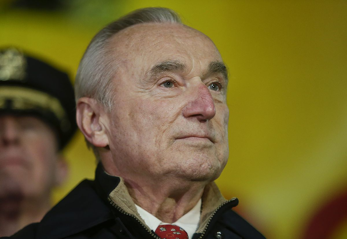 <div class='meta'><div class='origin-logo' data-origin='AP'></div><span class='caption-text' data-credit='AP Photo/Frank Franklin II'>New York City Police Commissioner William Bratton listens during a news conference as preparations for the Macy's Thanksgiving Day Parade continue Wednesday, Nov. 25, 2015.</span></div>