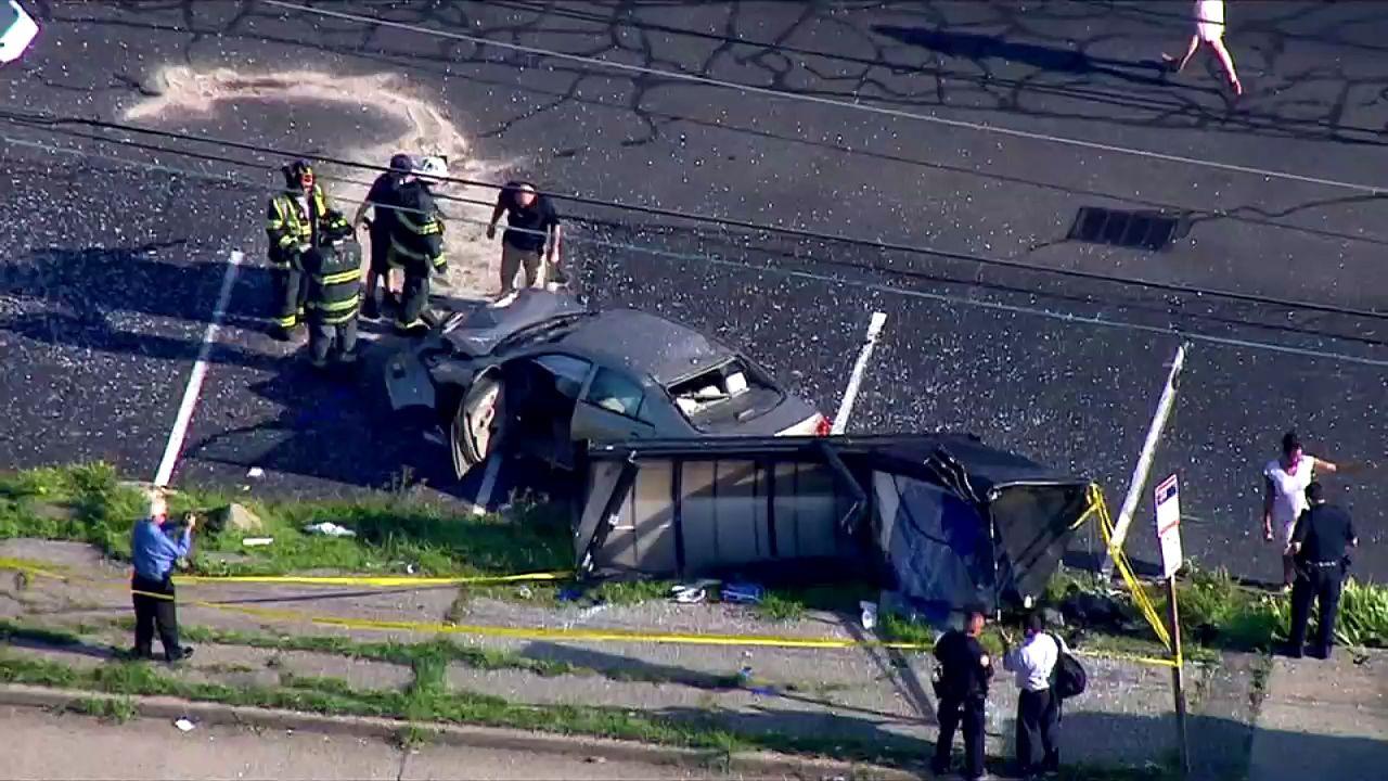 Nassau County bus stop crash