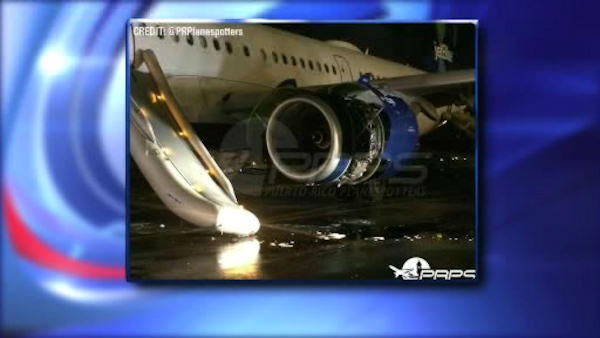 <div class='meta'><div class='origin-logo' data-origin='none'></div><span class='caption-text' data-credit=''>A JetBlue flight headed to JFK Airport from San Juan, Puerto Rico was evacuated after the left engine caught on fire Saturday night.</span></div>