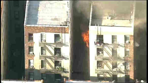 One person was found dead in a fire at an apartment building in Hamilton Heights Monday evening. <span class=meta>(Photo&#47;WABC)</span>