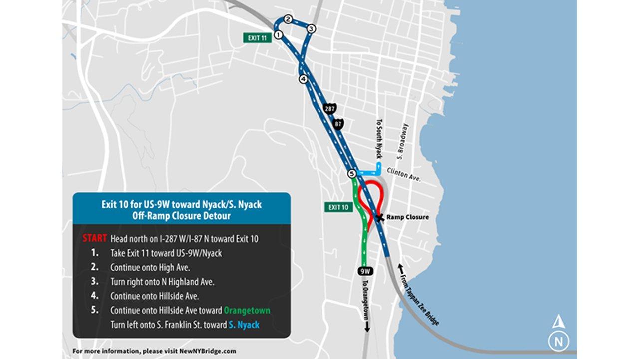 Rocklandbound Traffic To Begin Traveling On New Tappan Zee Bridge - Us bridge map