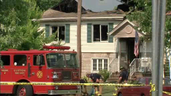 Numerous animals were killed when a fire broke out inside a home in Clifton, New Jersey. The home contained a pet sitting business. <span class=meta>WABC Photo</span>