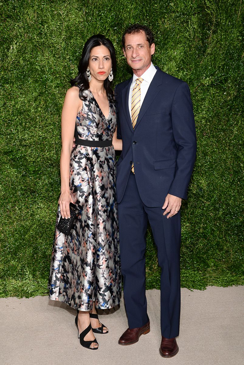 <div class='meta'><div class='origin-logo' data-origin='AP'></div><span class='caption-text' data-credit='Photo by Evan Agostini/Invision/AP'>Former U.S. Rep. Anthony Weiner and wife, political aide Huma Abedin, attend the 12th Annual CFDA/Vogue Fashion Fund Awards at Spring Studios on Monday, Nov. 2, 2015, in New York.</span></div>