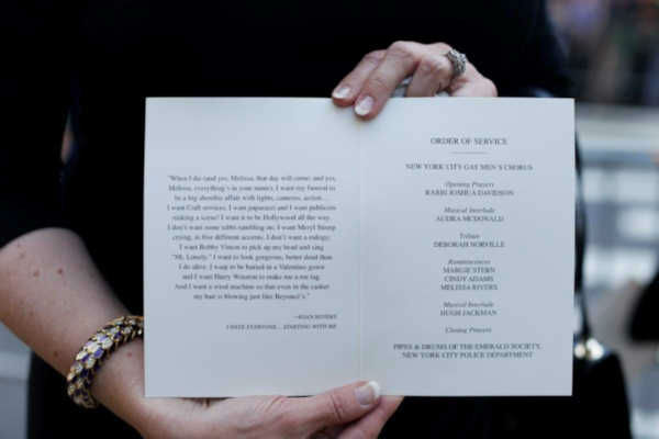 Related Keywords & Suggestions for joan rivers funeral program