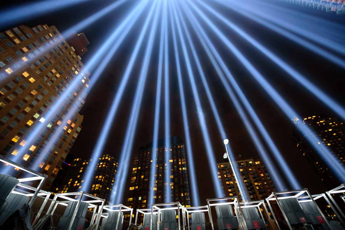 <div class='meta'><div class='origin-logo' data-origin='none'></div><span class='caption-text' data-credit='WABC Photo/Mike Waterhouse'>The 'Tribute in Light' memorial shines in Lower Manhattan on the night before the 15th anniversary of the September 11, 2001, terror attacks.</span></div>