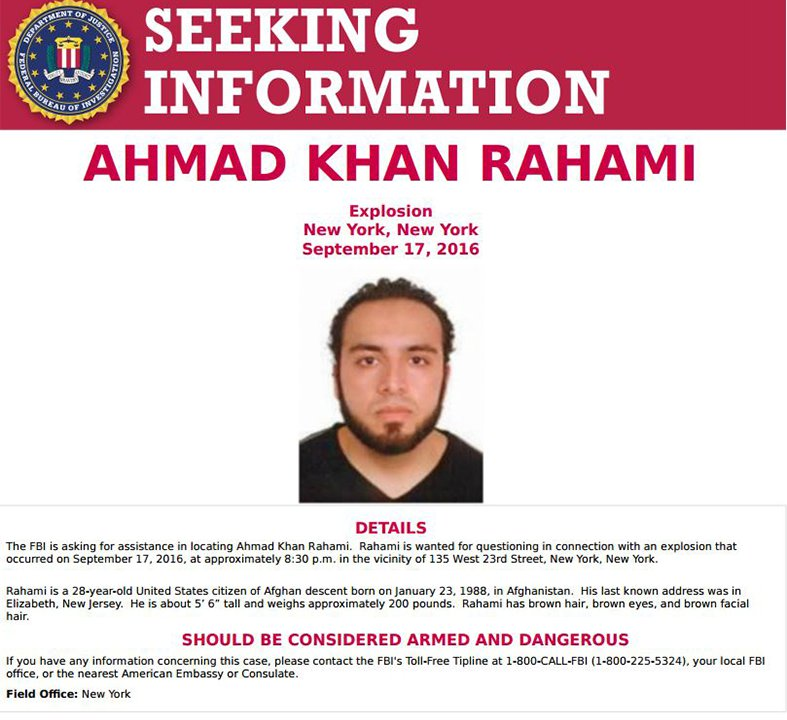 NY bombing suspect in police custody