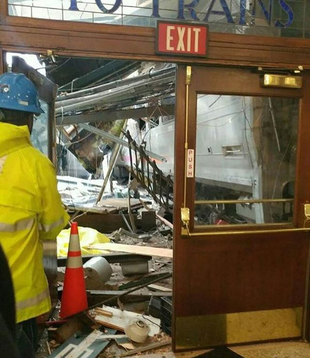 New Metro North President To Recertify As Locomotive: Photos: Train Crash At NJ Transit's Hoboken Station