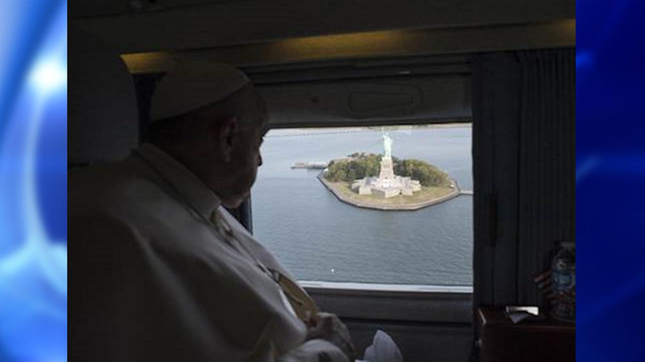 Pope Francis asked to circle Statue of Liberty, Ellis Island