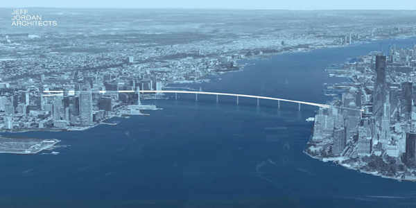 """<div class=""""meta image-caption""""><div class=""""origin-logo origin-image none""""><span>none</span></div><span class=""""caption-text"""">An architect has created renderings of Kevin Shane's proposed pedestrian bridge between Jersey City and Manhattan.  (Courtesy Jeff Jordan architects)</span></div>"""