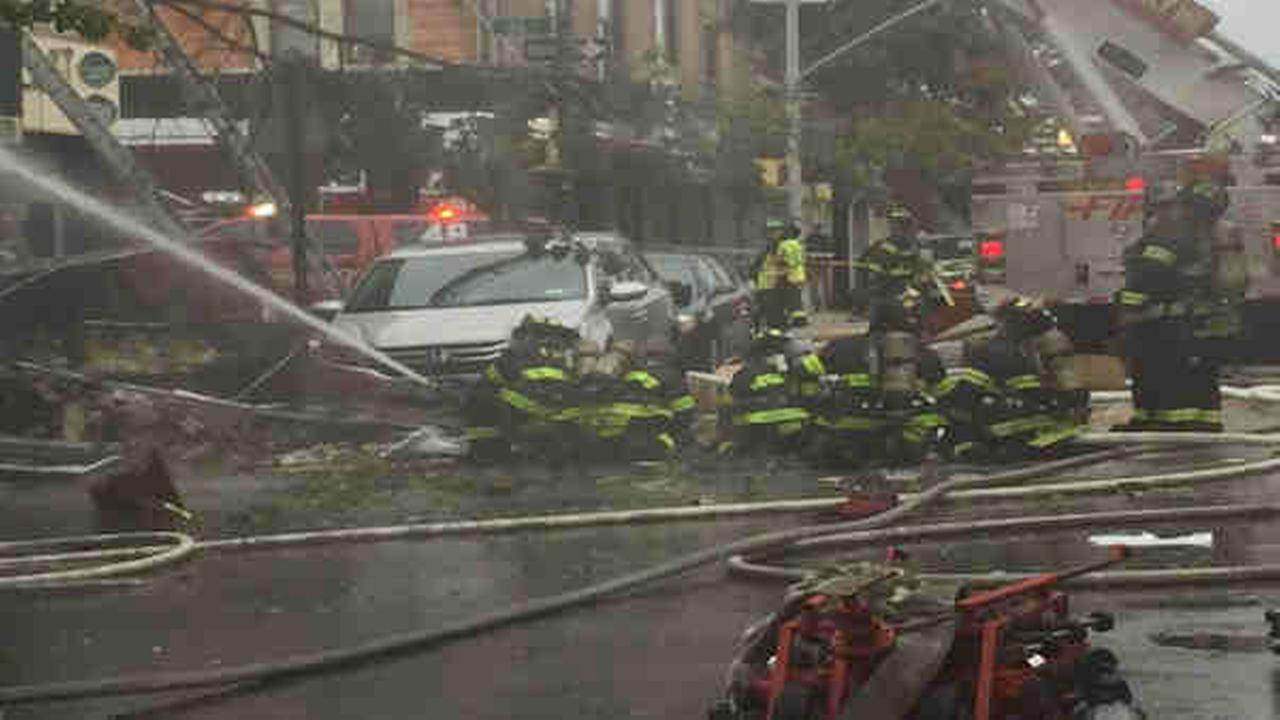 PHOTOS: Borough Park building explodes, catches fire
