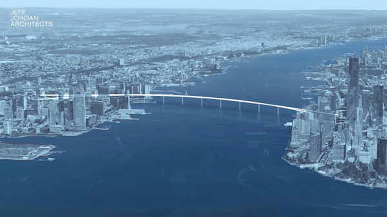 Pedestrian bridge proposed that would link Jersey City and Manhattan