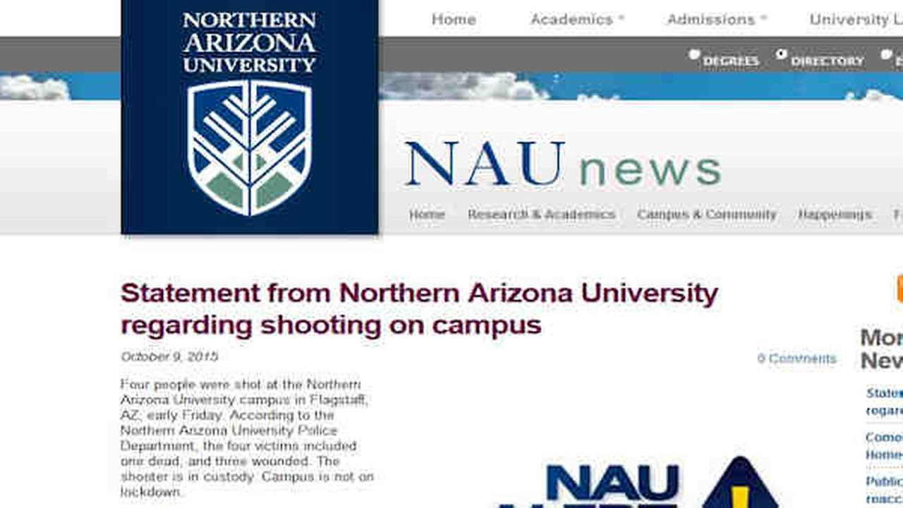 The NAU campus website added a statement about the shooting earlier Friday.