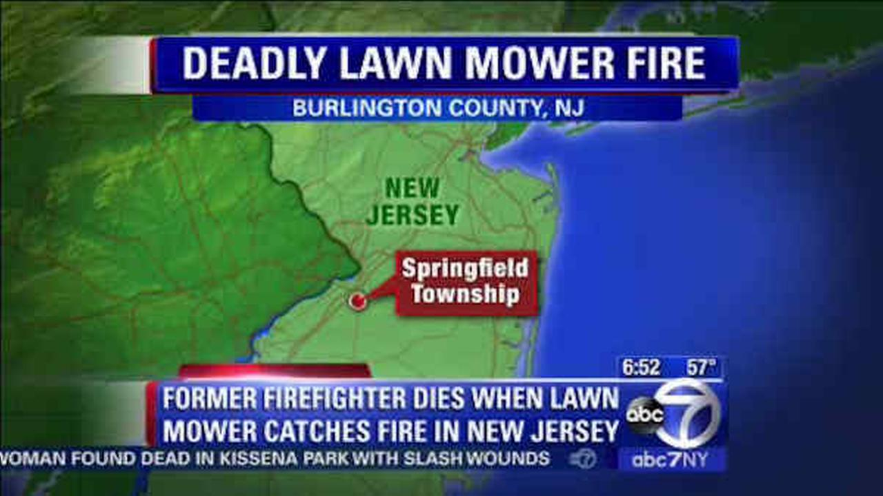 Lawn mower catches fire, kills retired 79-year-old New Jersey firefighter