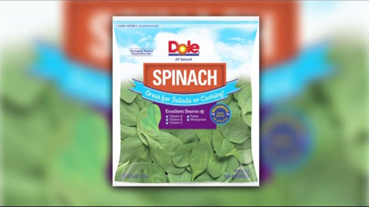 Dole recalls bagged spinach due to possible salmonella contamination