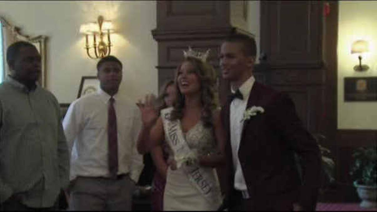 Teenager battling cancer brings Miss New Jersey to homecoming