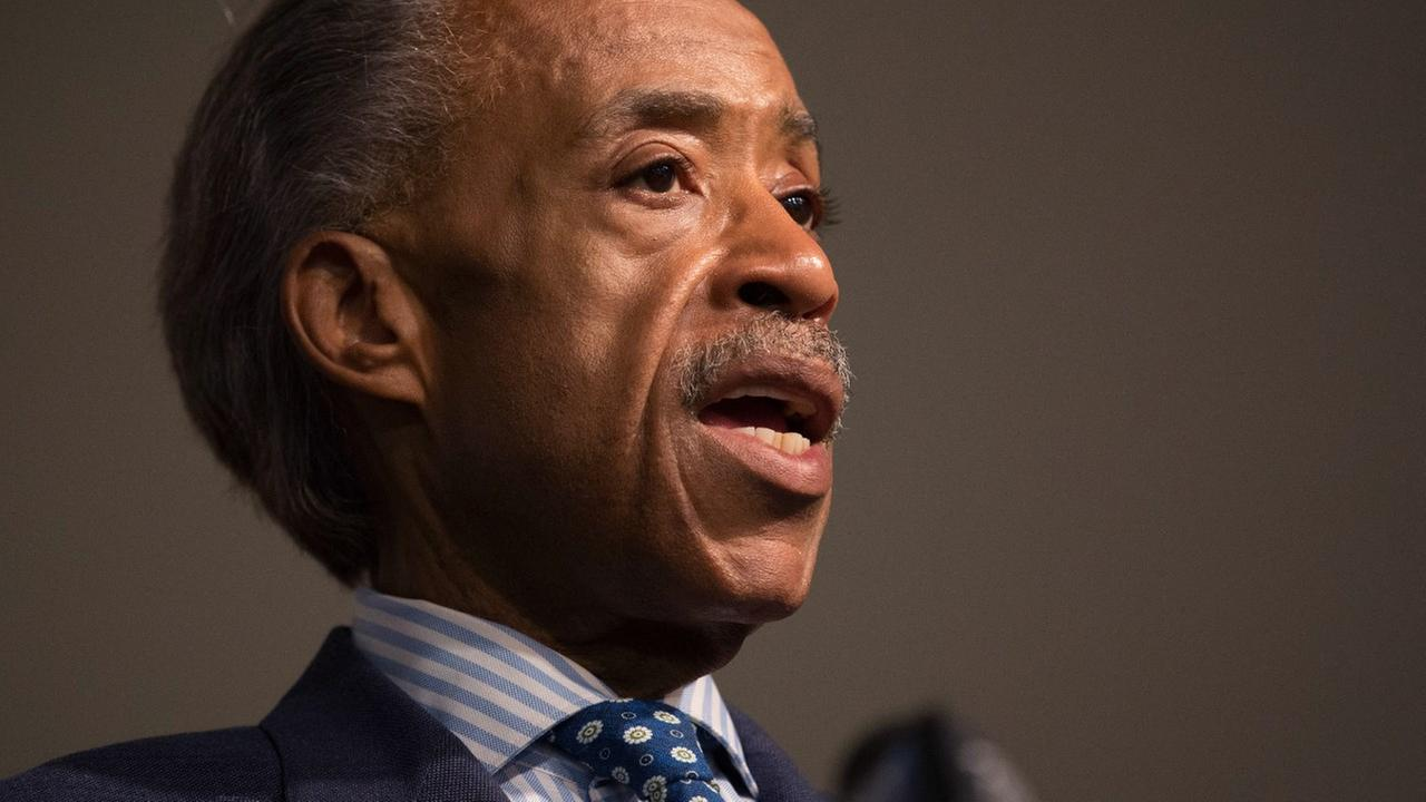Reverend Al Sharpton addresses the media during a news conference at the National Action Network headquarters, Thursday, June 18, 2015, in New York.