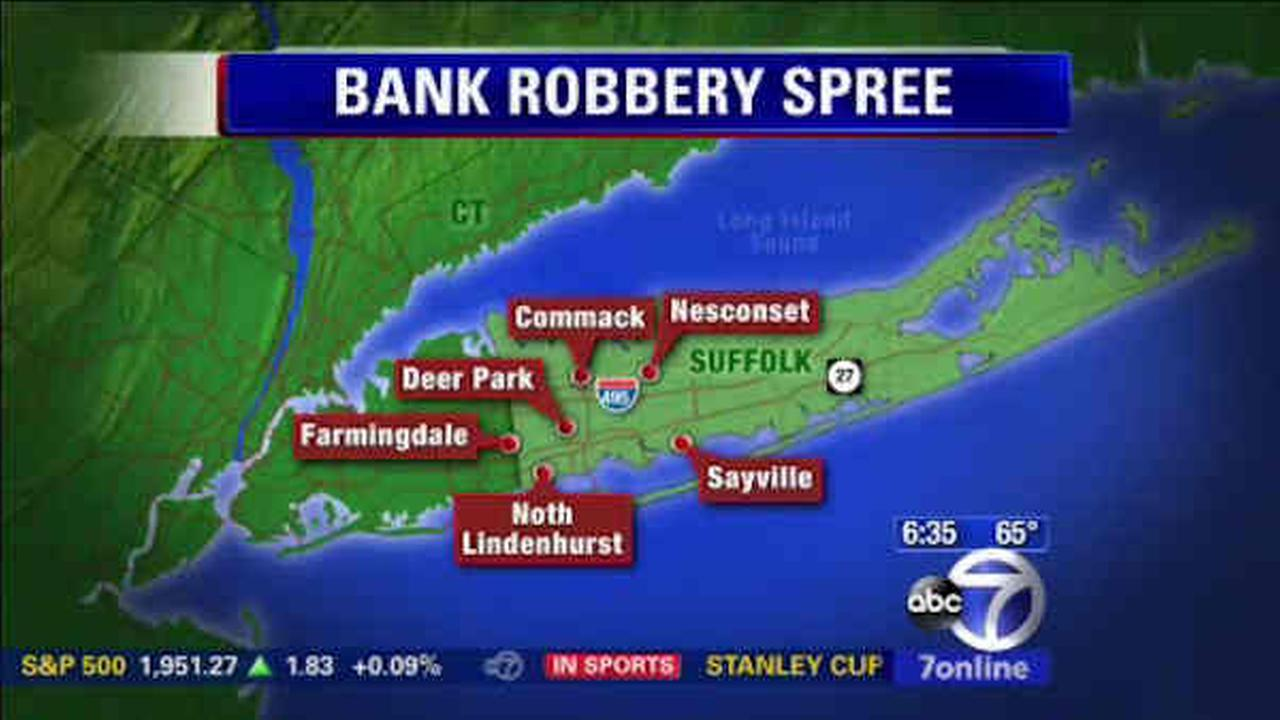 long island bank robbery spree