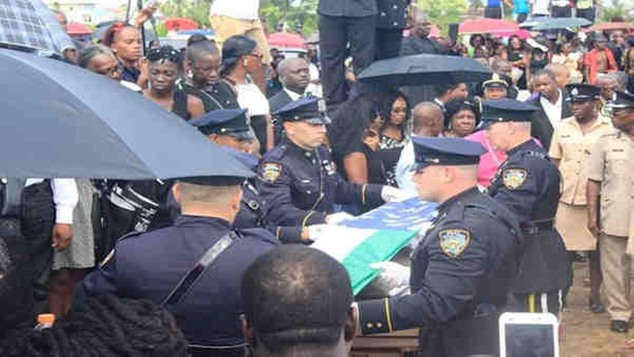 Slain New York City police officer Randolph Holder buried in native Guyana
