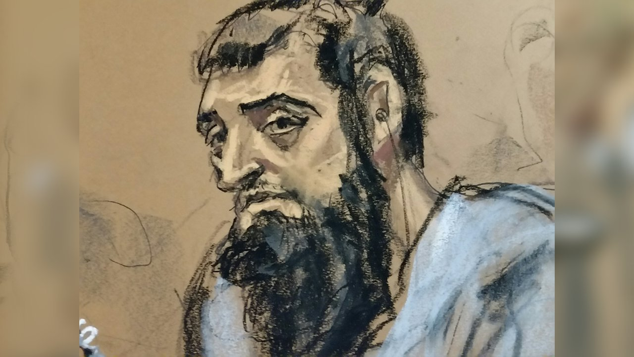 <div class='meta'><div class='origin-logo' data-origin='none'></div><span class='caption-text' data-credit='Jane Rosenberg'>New York City terror suspect Sayfullo Saipov appeared in court on Wednesday, November 1, 2017.</span></div>