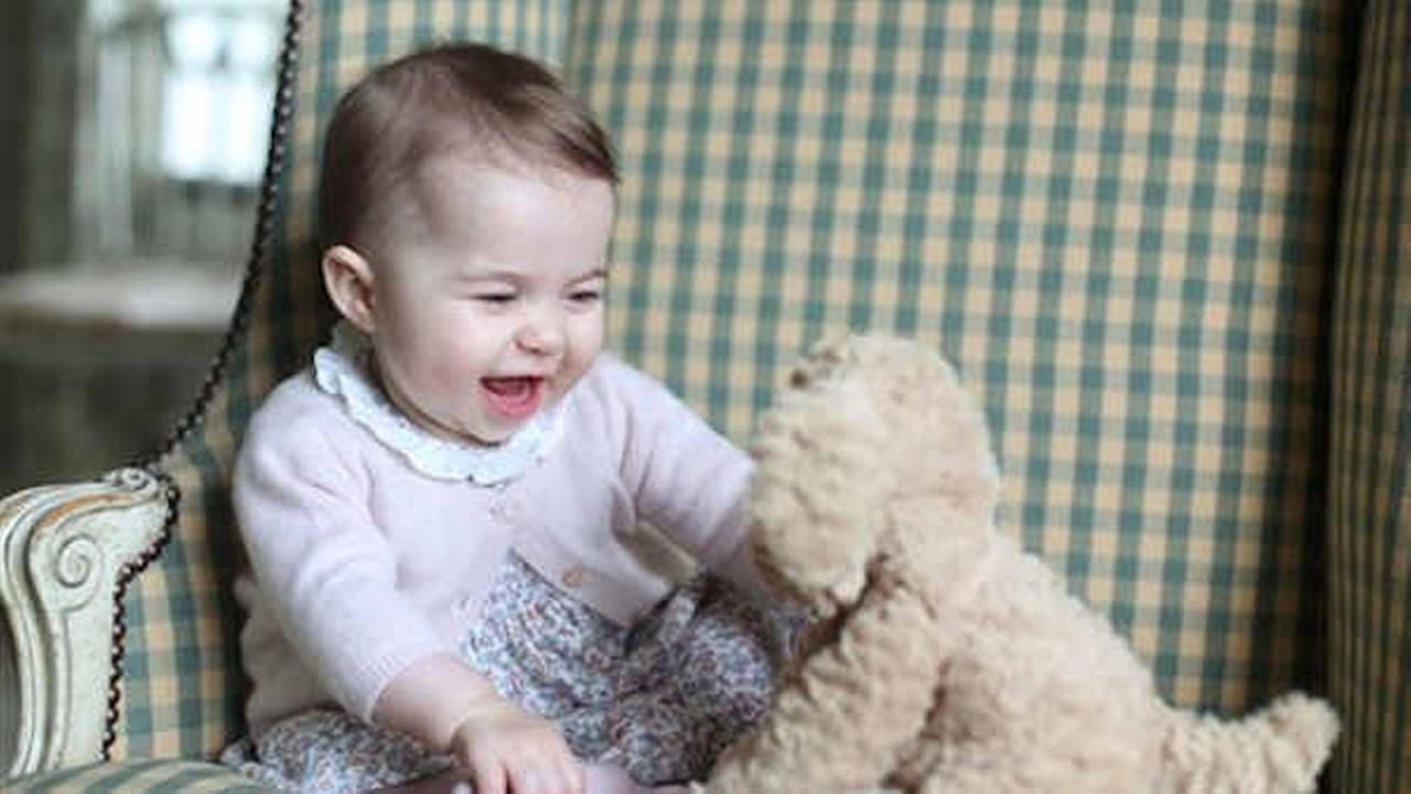 Princess Charlotte was born May 2, 2015, and the photo was taken by her mother, Kate Duchess of Cambridge, during November 2015. (Duchess of Cambridge via AP)