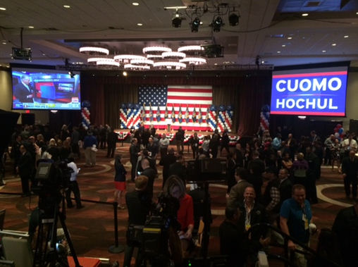 "<div class=""meta image-caption""><div class=""origin-logo origin-image ""><span></span></div><span class=""caption-text"">A look at the headquarters for Governor Andrew Cuomo on election night. (Mike Humphries)</span></div>"