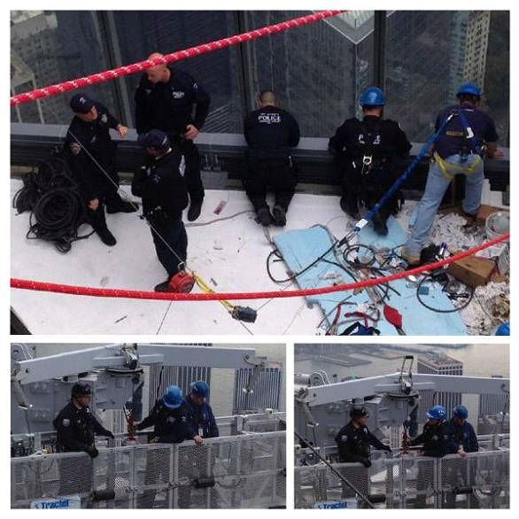 """<div class=""""meta image-caption""""><div class=""""origin-logo origin-image """"><span></span></div><span class=""""caption-text"""">The FDNY cut through a window on the 68th floor of One World Trade to rescue the workers.</span></div>"""