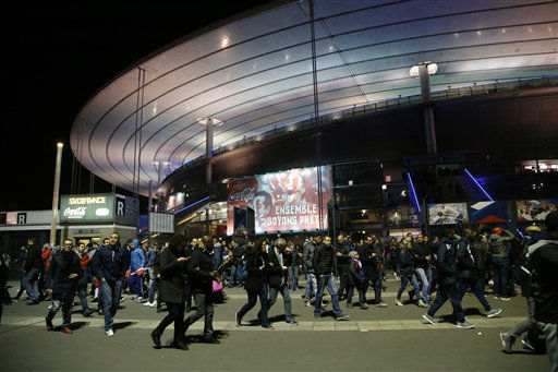 "<div class=""meta image-caption""><div class=""origin-logo origin-image none""><span>none</span></div><span class=""caption-text"">People leave the Stade de France stadium after the international friendly soccer France against Germany, Friday, Nov. 13, 2015 in Saint Denis, outside Paris. (AP Photo / Michel Euler)</span></div>"